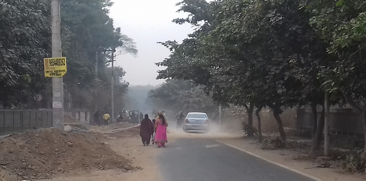 Where has the fresh air in this DDA Park of Dwarka Sector 3 vanished?