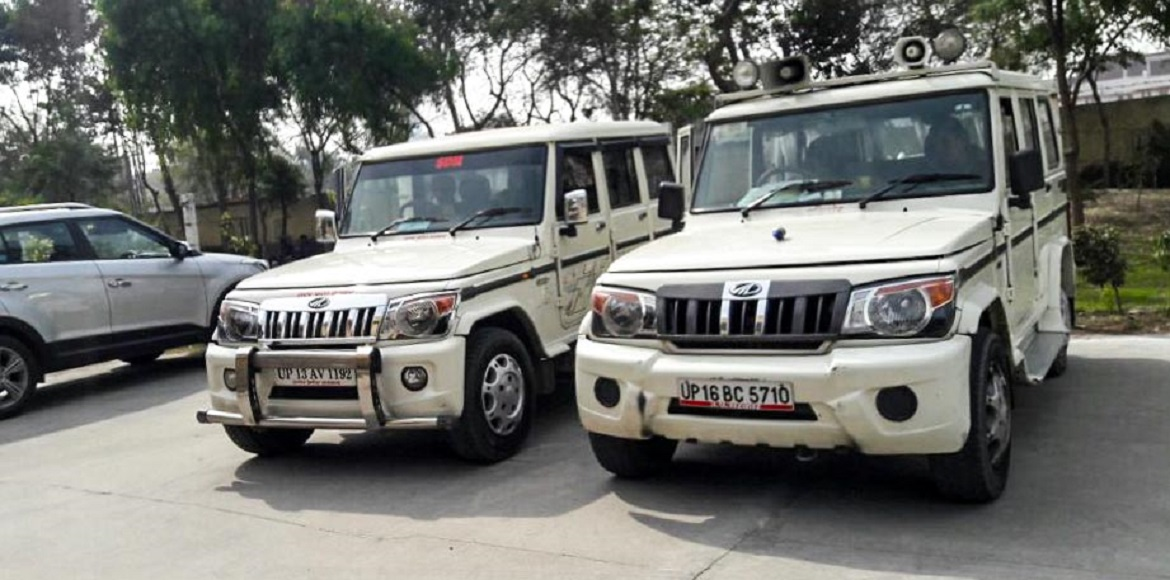 These are government-owned vehicles, and they still ply with bull bars!