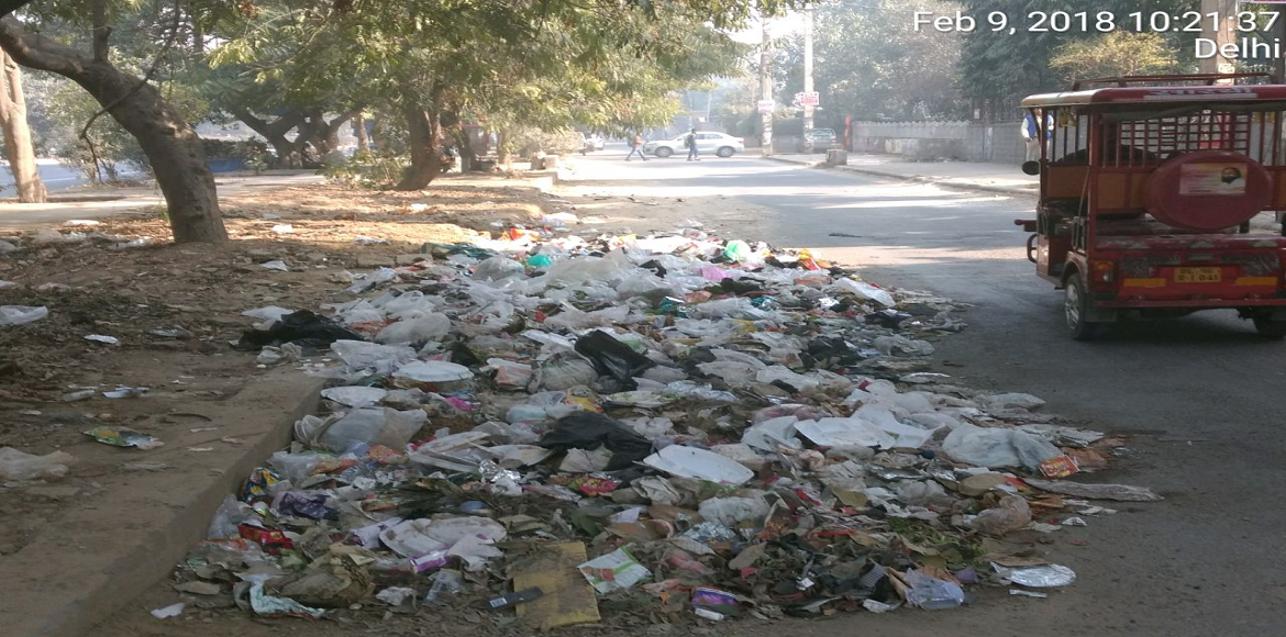 In Sector 7, Dwarka, garbage everywhere is the norm!