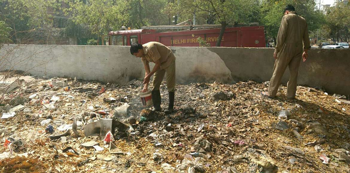 We've been talking about garbage burning in Dwarka. Now here's video proof