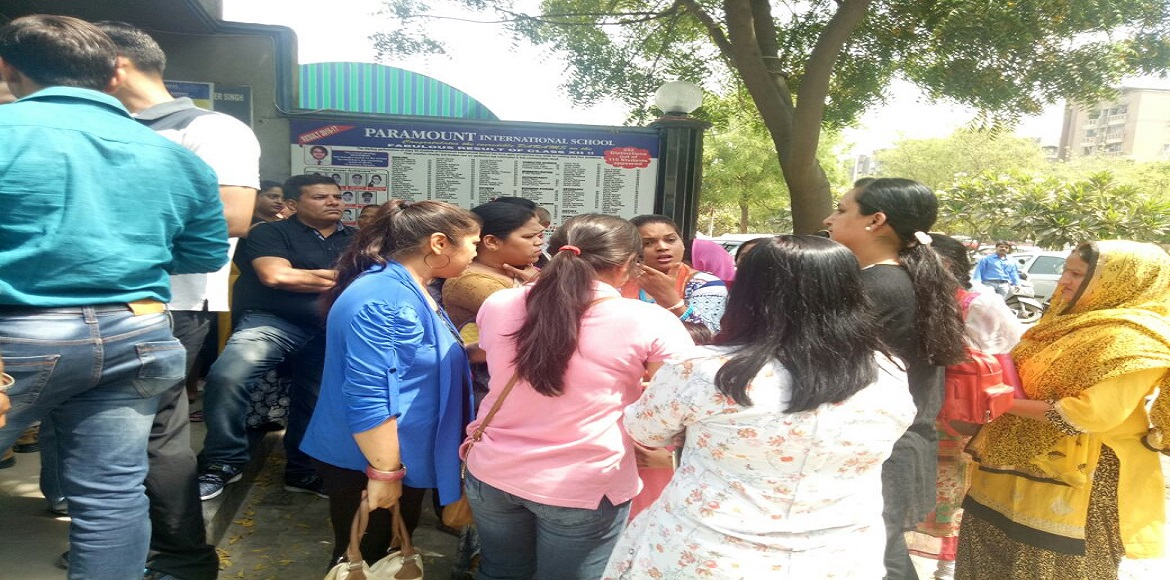 Incensed parents resort to a second bout of protests at Paramount School, Dwarka