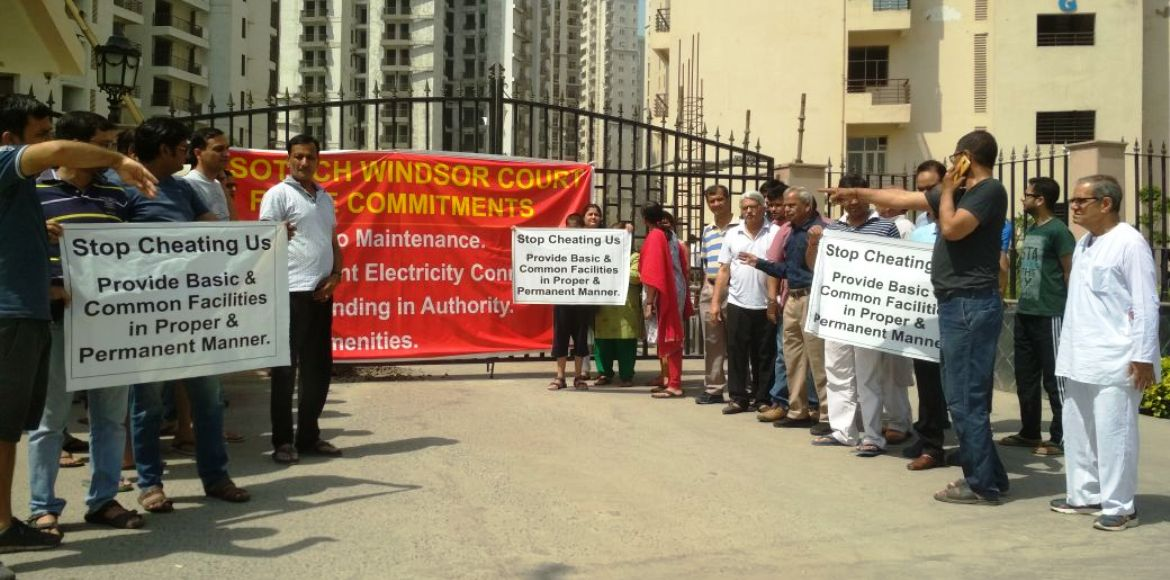 Cornered, Assotech Windsor Court residents stage p