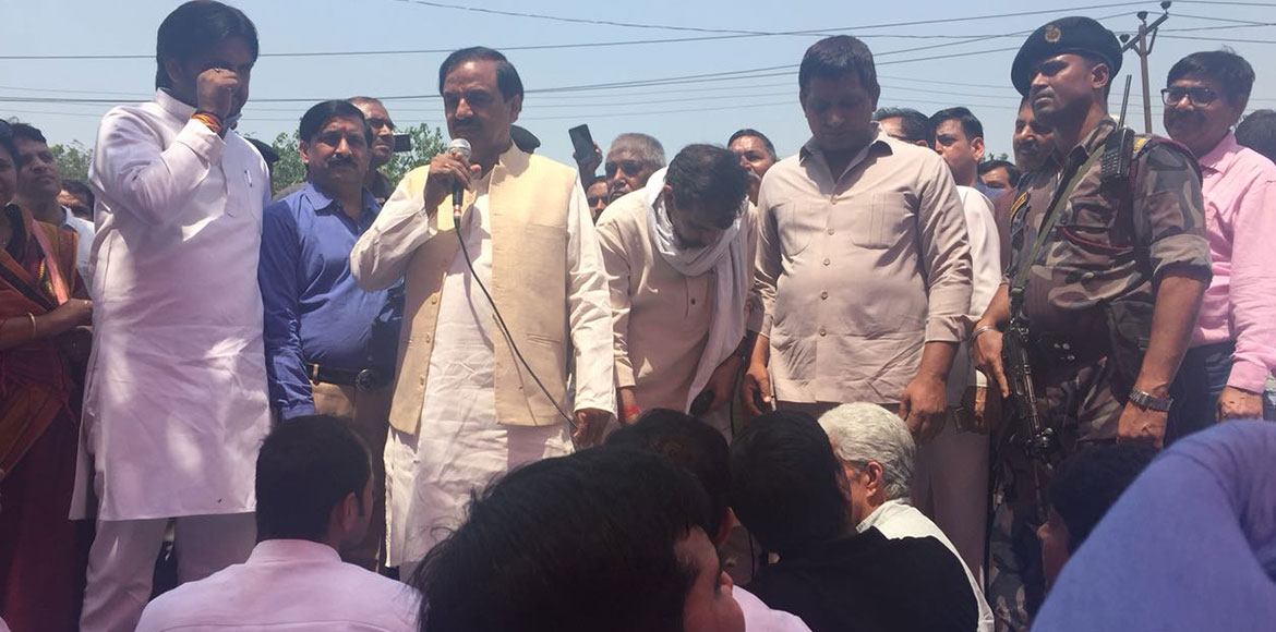 Mahesh Sharma: I will not show you my face if garb