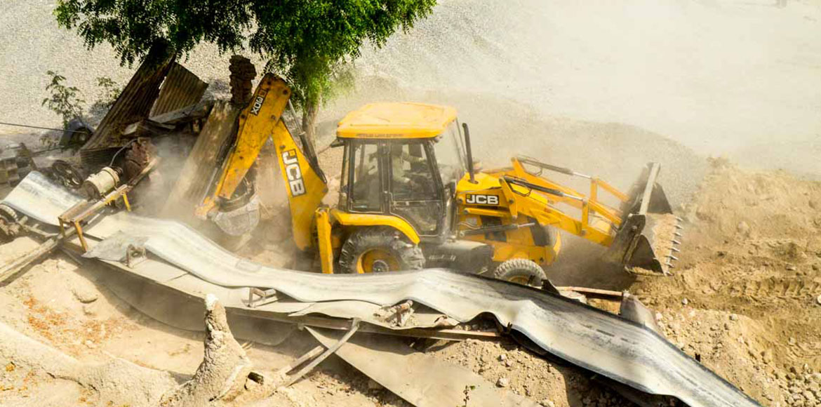 Ghaziabad: GDA razes illegal stone crusher near In