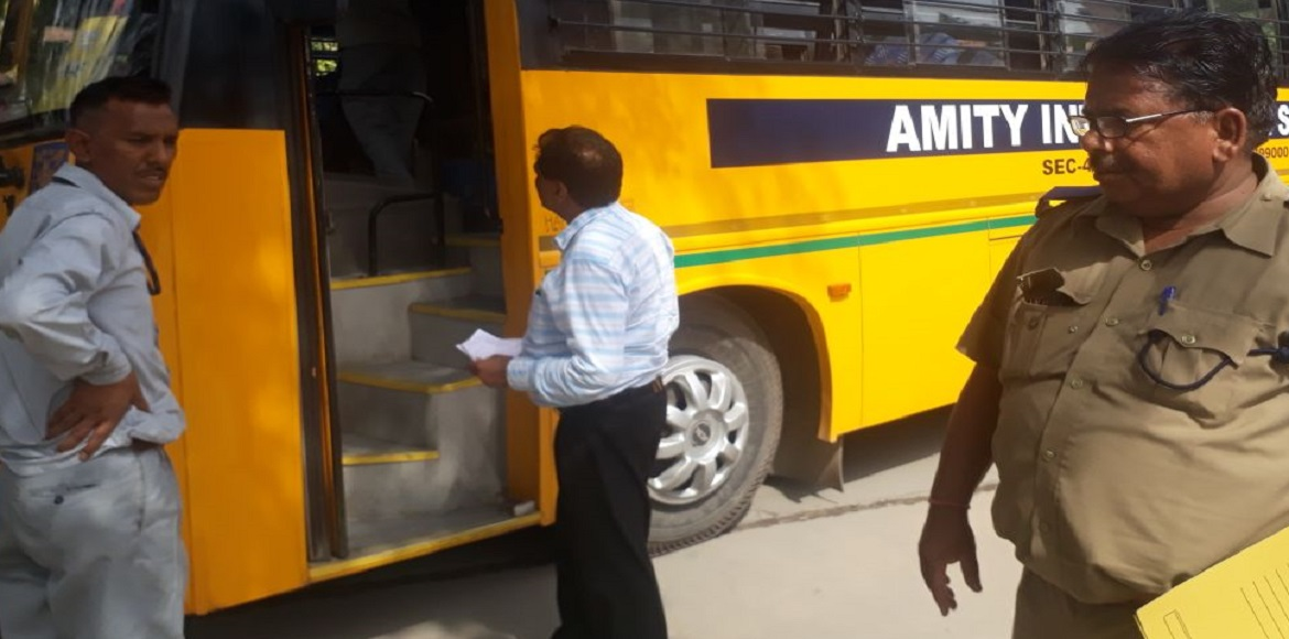 Putting emphasis on child safety, GB Nagar starts inspection of school buses
