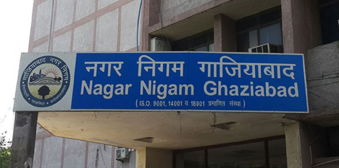 Ghaziabad: Board carrying map, contact details to