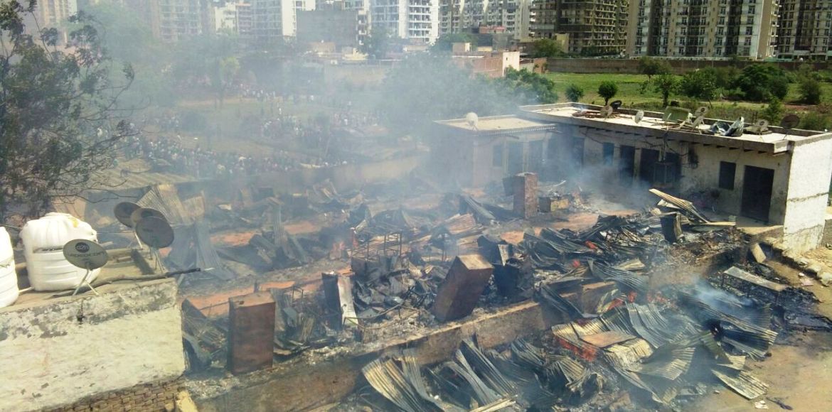 Fire in I'puram slum; second in the same area in a month!