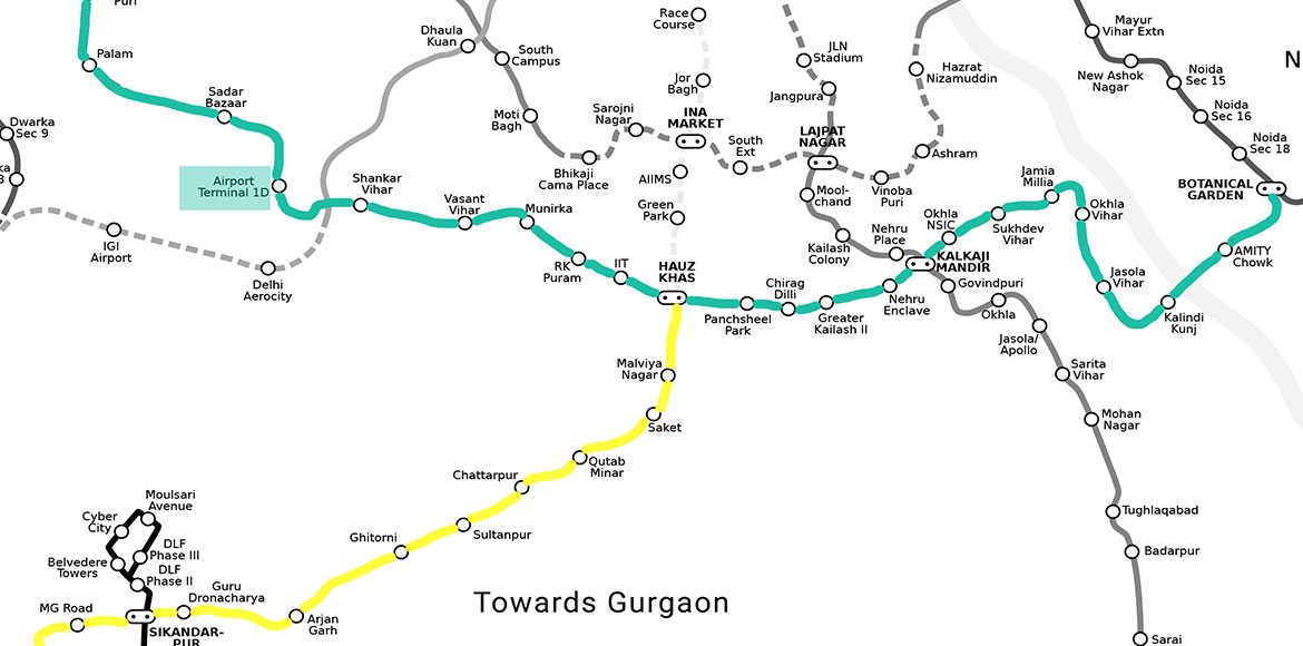 Noida-Gurgaon travel in 50 mins, IGI's Terminal 1 to get metro link for 1st time