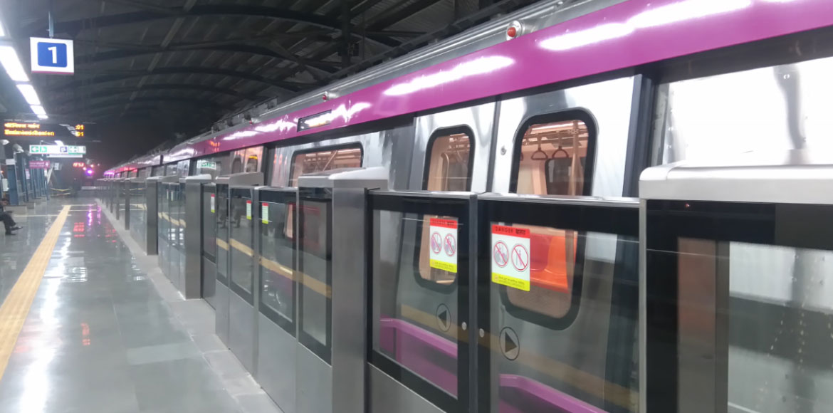 New Automatic fare collection gates at DMRC's Magenta Line interchange stations