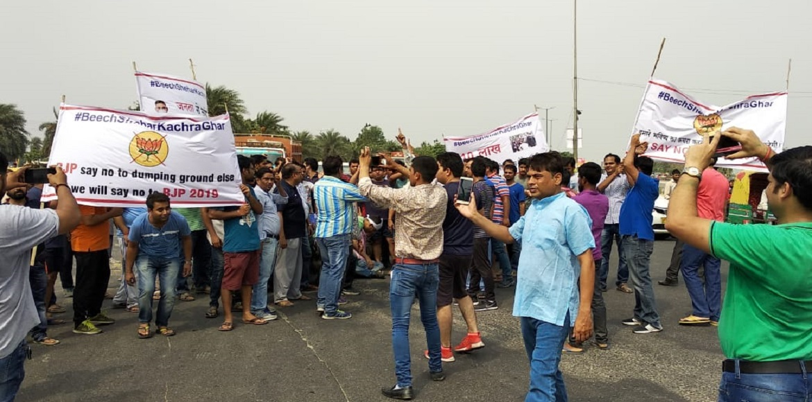 Now, Noida Extension residents carry out protest march against landfill