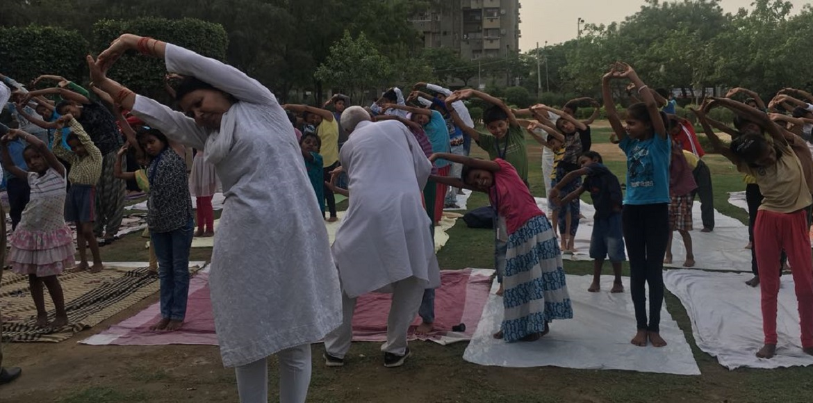 This is how Dwarka is preparing  for International Yoga Day