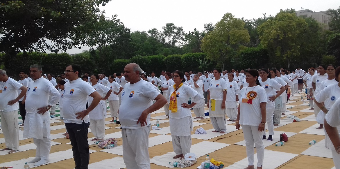 International Yoga Day: Number of participants goes up from last year in Dwarka