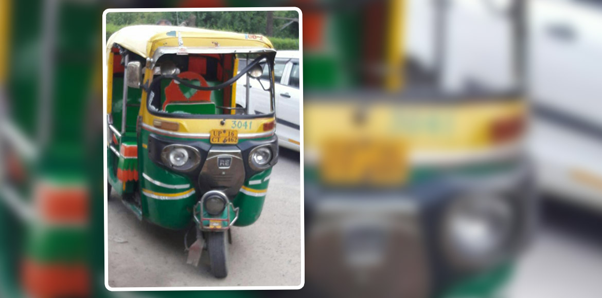 Auto rams into woman outside Amrapali Silicon City