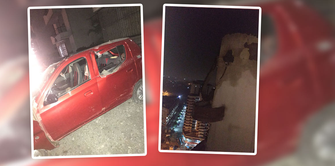 3 cars damaged as cement beam falls from building in Ajnara Gen-X