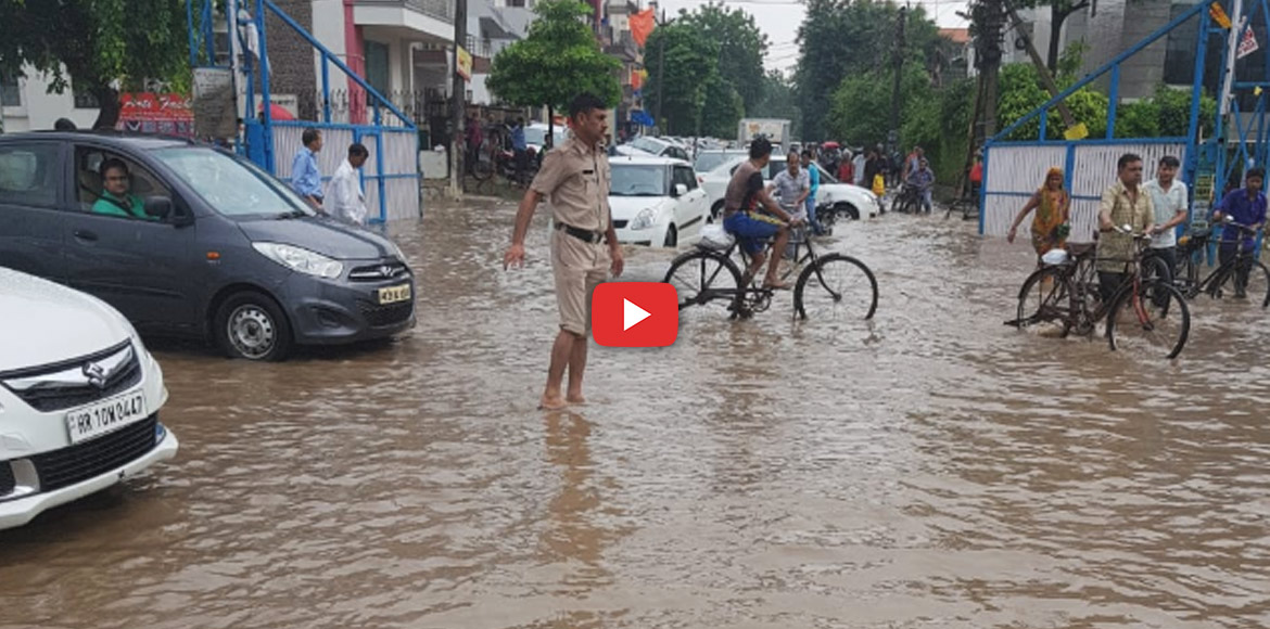 Severe waterlogging plagues traffic; residents fea