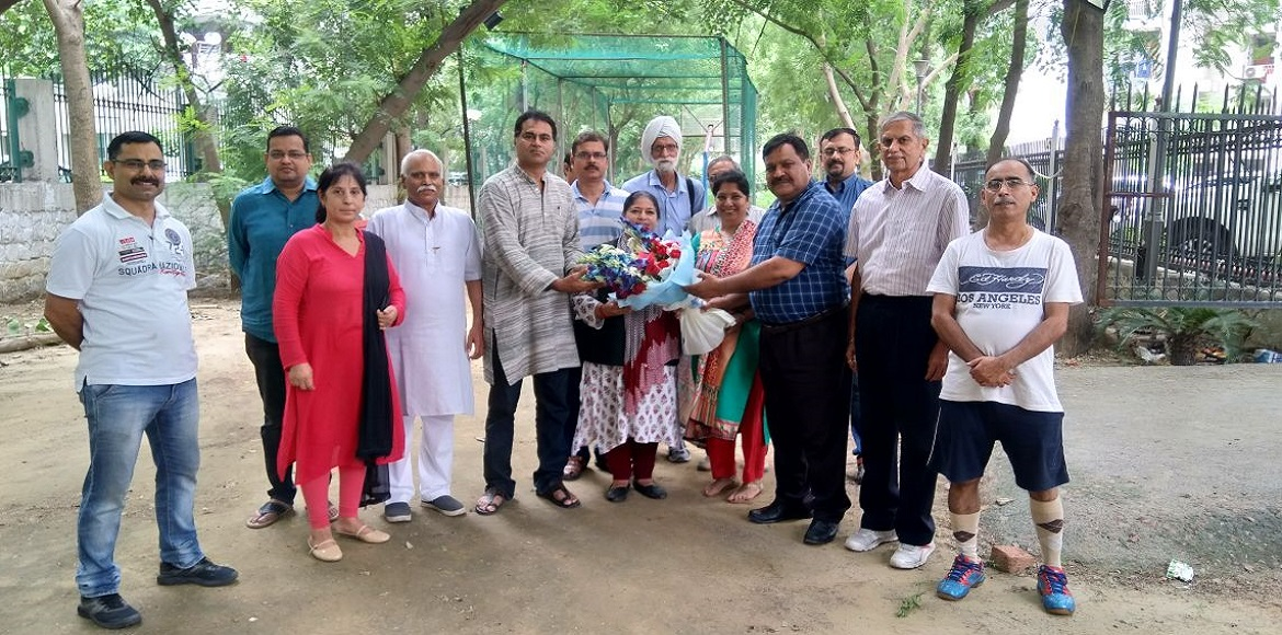 Dwarka: Residents of Brahma Apartments discuss problems with MLA
