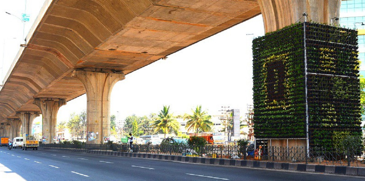 To improve air quality, vertical gardens to be erected across Gurgaon