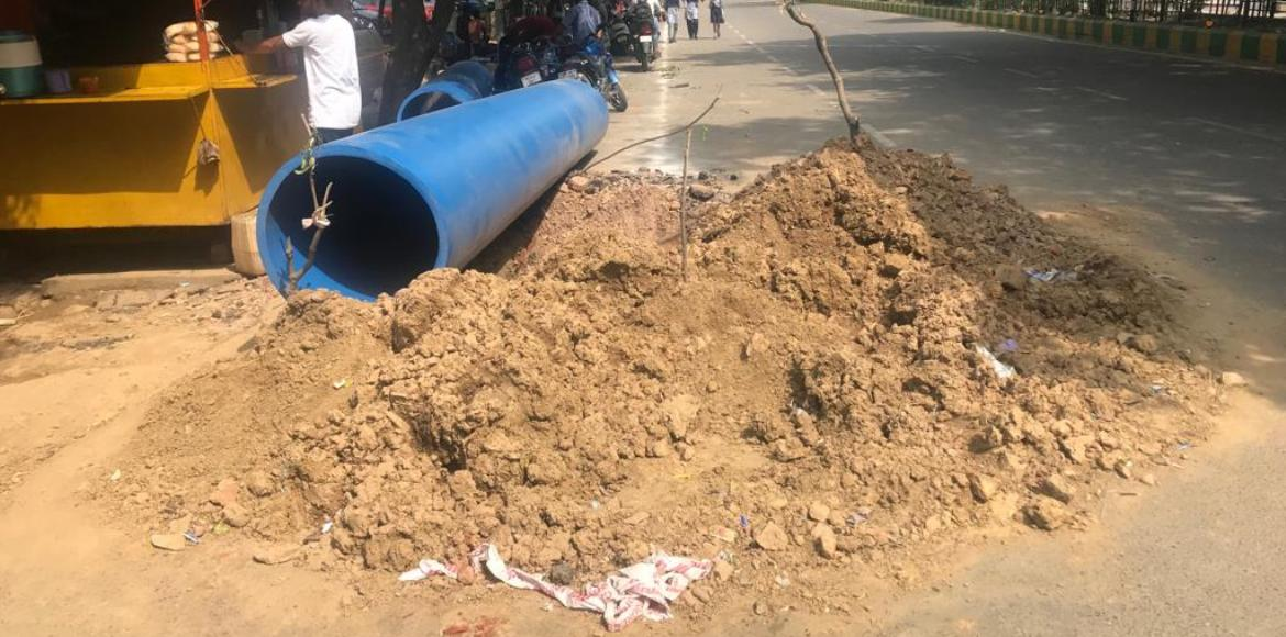 After years of struggle, Ahinsa Khand II finally set for its water pipeline
