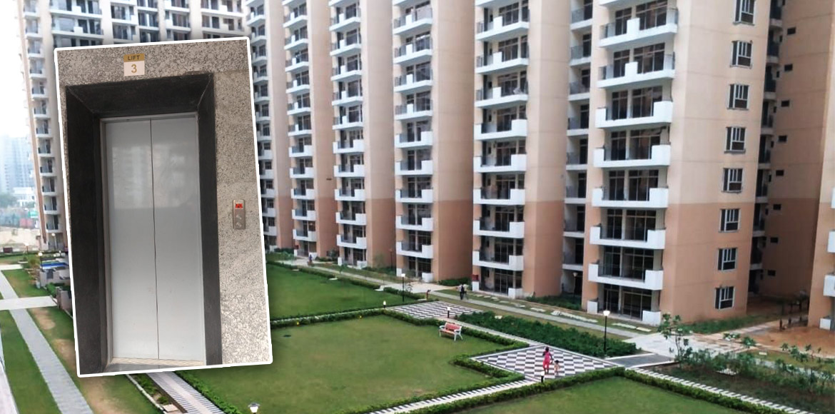 Noida: Pregnant woman injured after lift falls in Nirala Aspire