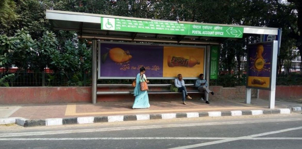 Bus Q-shelters built barely a year ago on Sohna Ro