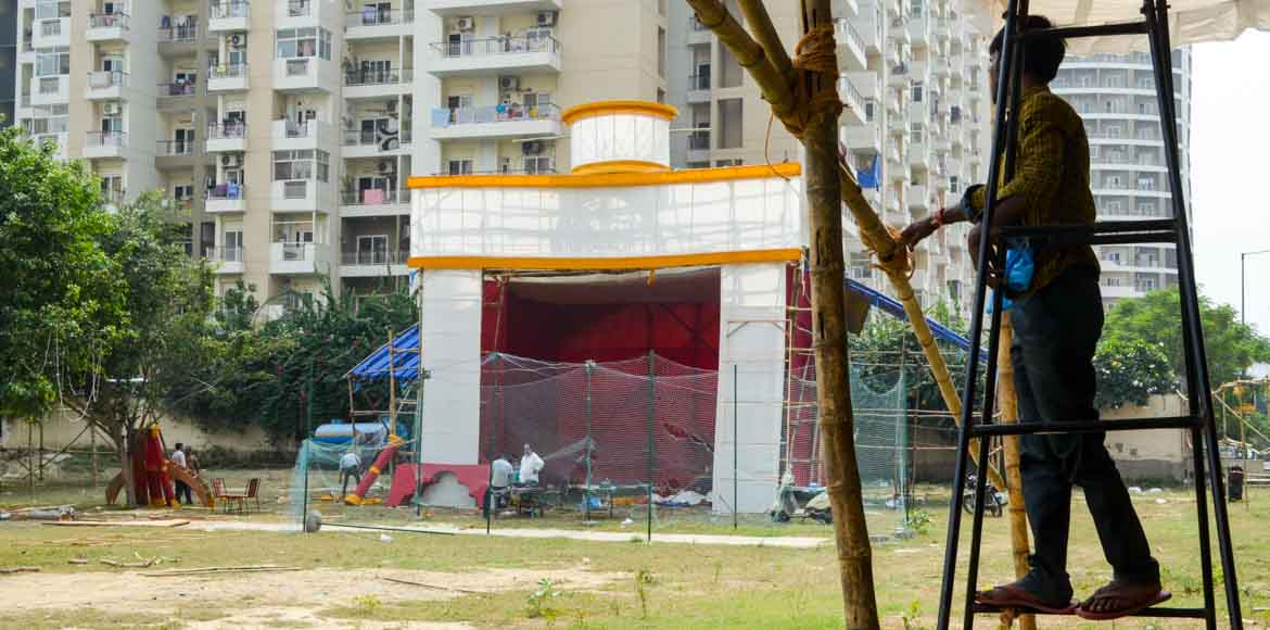 Eight societies in Sector 137, Noida Expressway, to host their first Durgo Utsov