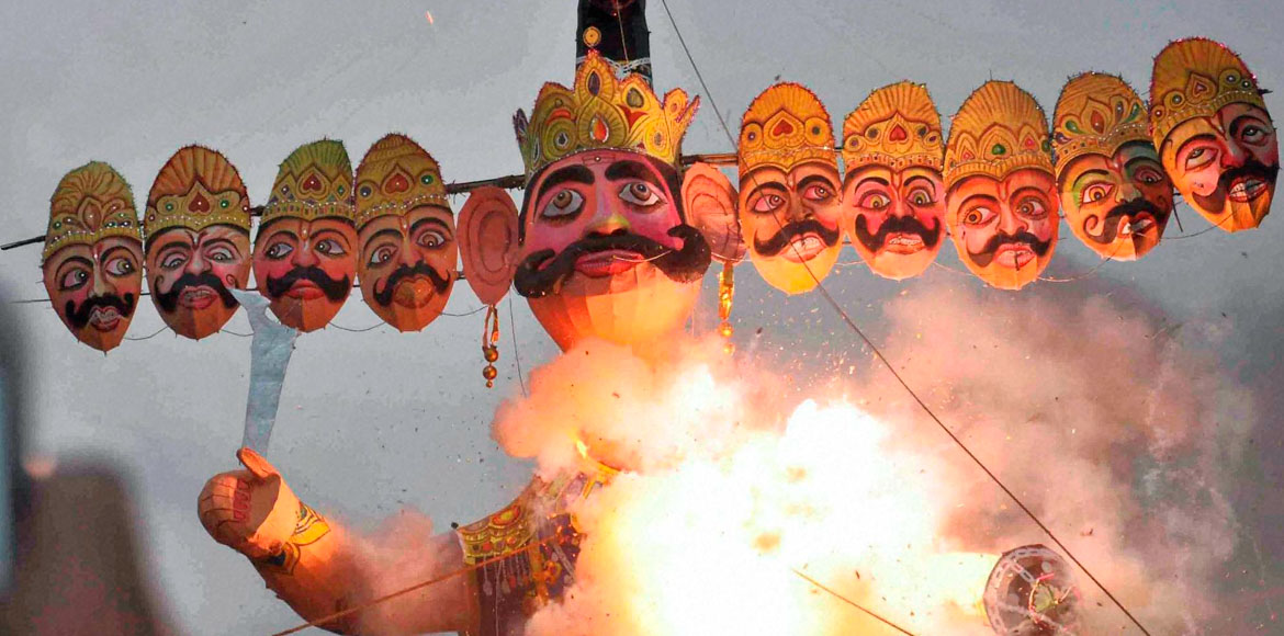 Gurugram residents celebrate Dussehra with great fervour; ends on positive note