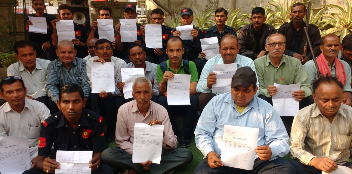 Forty guards of KW Srishti in Rajnagar Ext rendered jobless in a day!