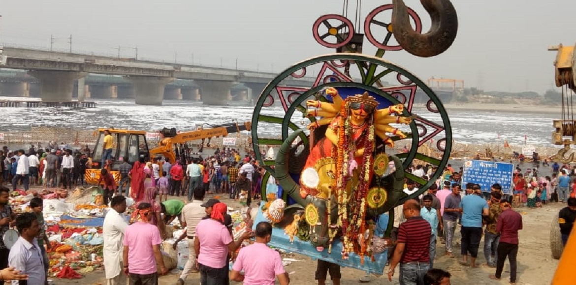 PHOTO KATHA: Durga Puja concludes with Sindur Khela, idol immersion at Dwarka