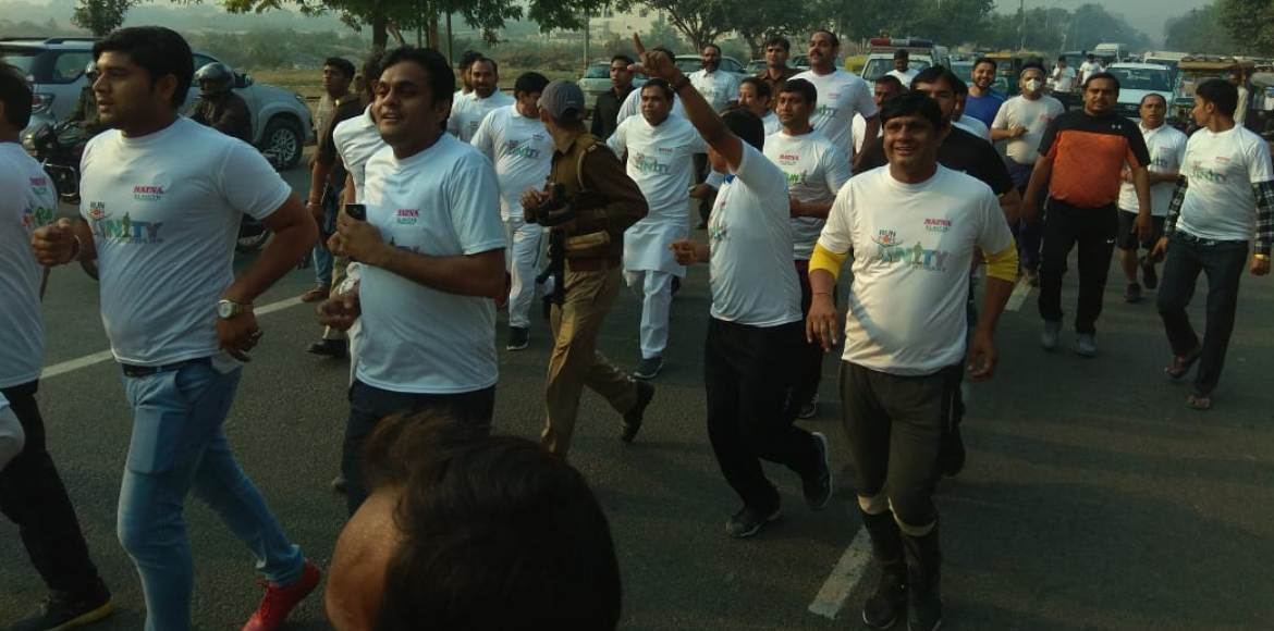 Noida and GreNo residents turn out in huge numbers for Run for Unity