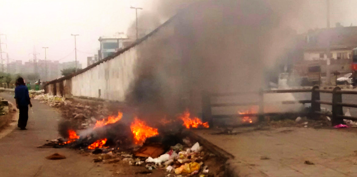 Burning of waste rampant in Dwarka; levels of poll