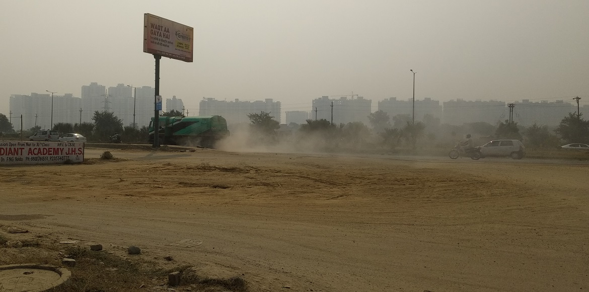 GreNo Authority's inaction against pollution evident with roads full of dust