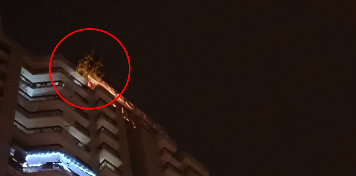 Major fire prevented at a high-rise in Crossings R