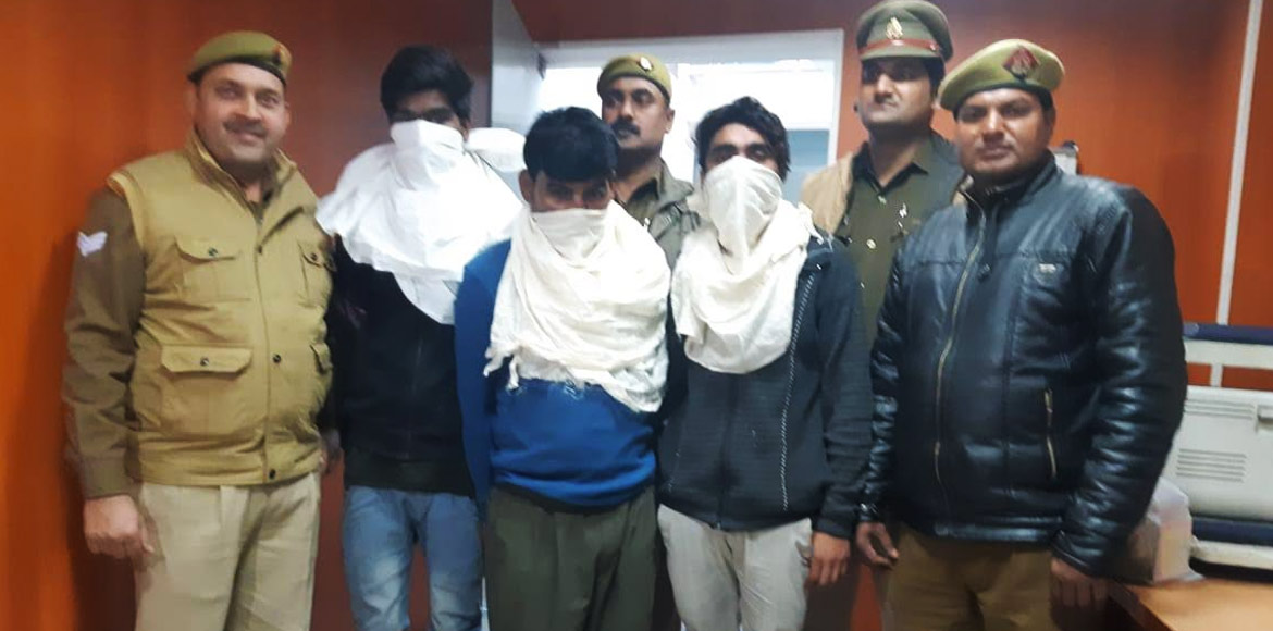 Noida police arrests four persons for selling mari
