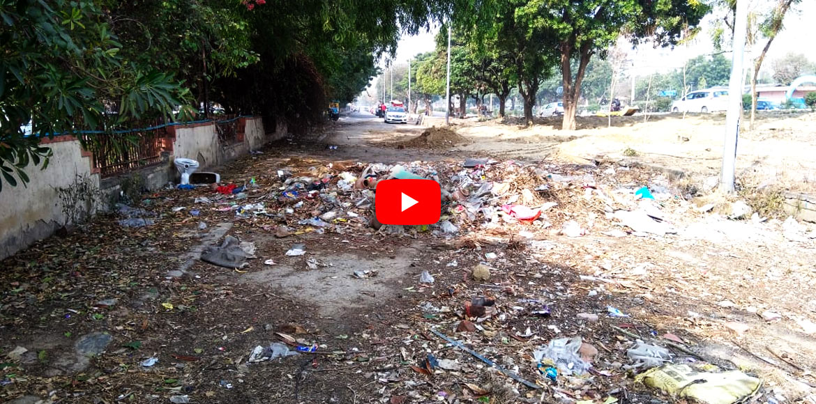 A service road in Dwarka that ends 'abruptly': WATCH VIDEO