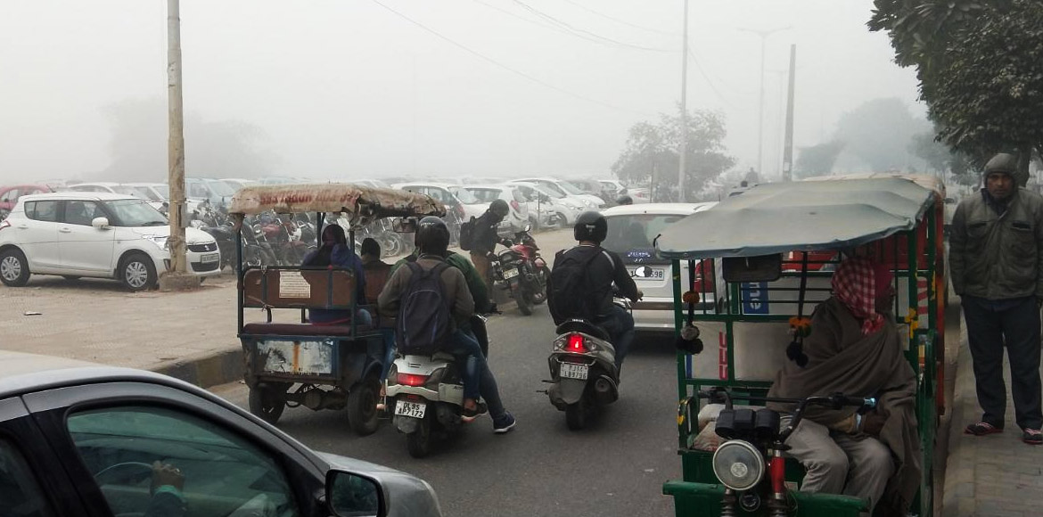Fog, unruly vehicles make Dwarka roads unsafe for commuters