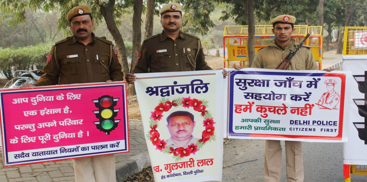 'Safety for cops on roads' campaign launched in Dwarka; residents join hands