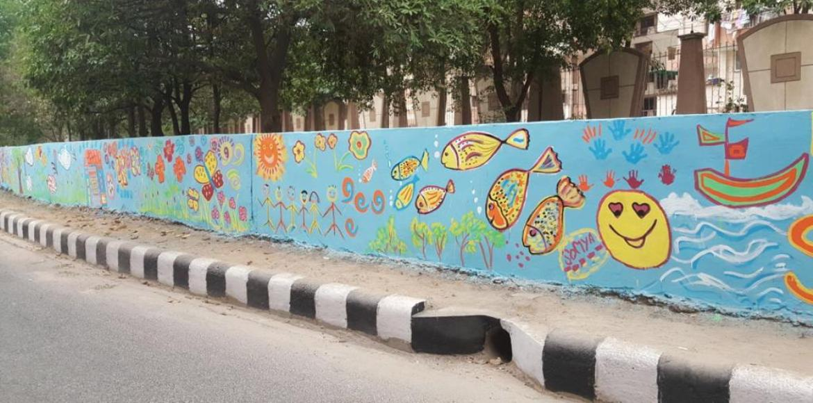 How boundary art makes for a pretty Dwarka...
