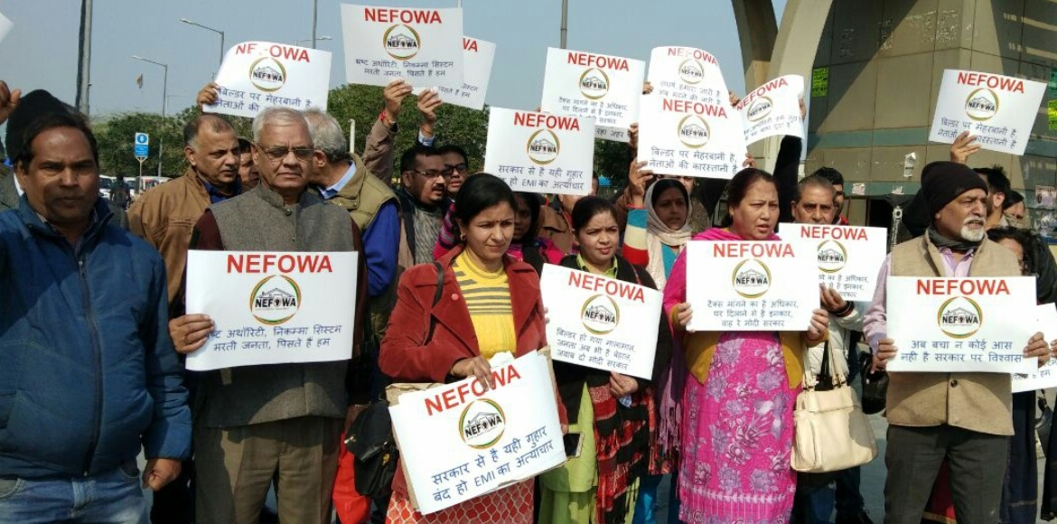 NEFOWA stages protest to draw CM's attention on Aq