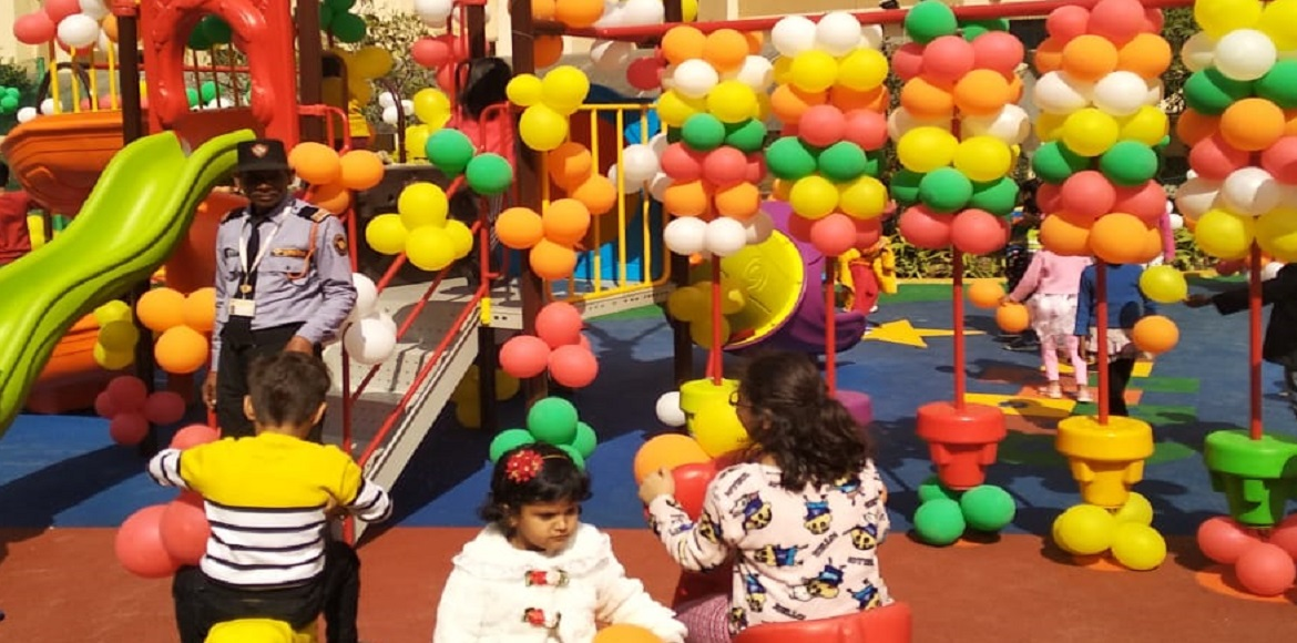 Jaipuria Sunrise Greens gifts playground to tiny tots living in society