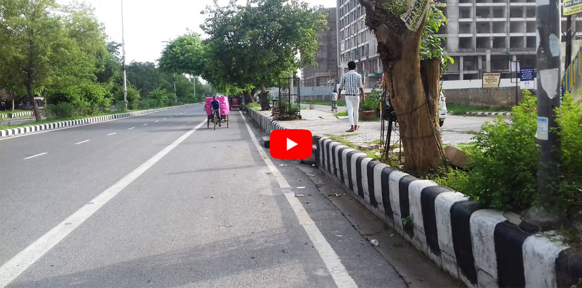 WATCH: Height of footpaths makes it difficult to a