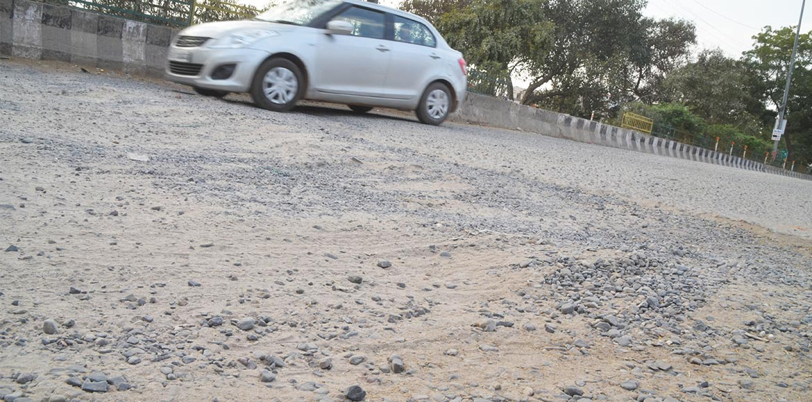 Gurgaon road repair: Respite soon for societies on