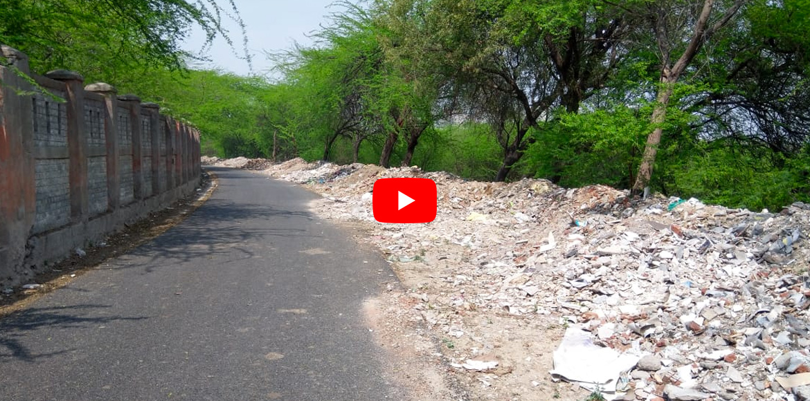 Dwarka: Debris dumping on internal road poses environmental hazard. WATCH VIDEO