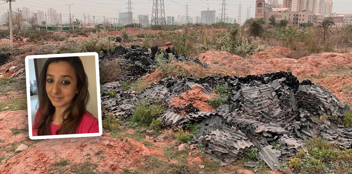 Green belt near Nirvana Country, Gurugram, turns dumping spot