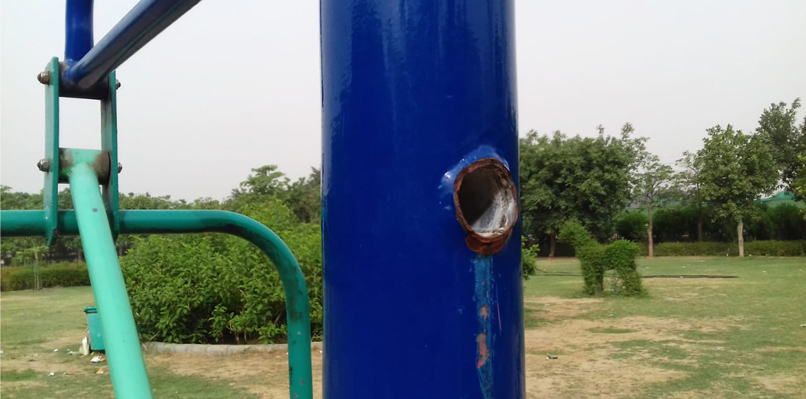 Dwarka: Open gyms in dire need of maintenance; damaged equipment hurt users
