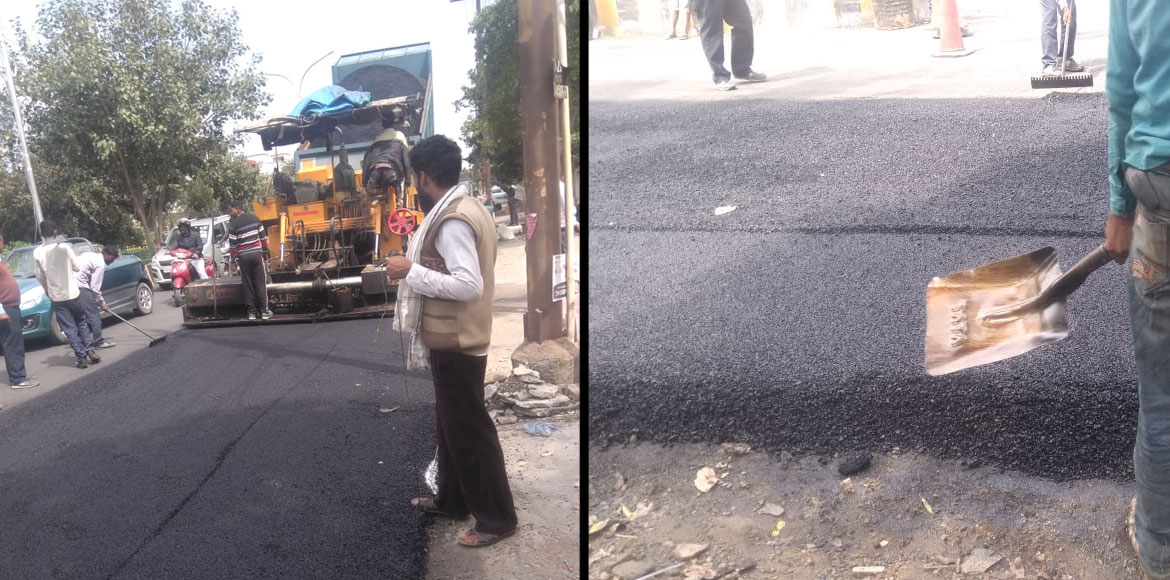 Residents get relief as resurfacing of road in Sec 50, 51 starts