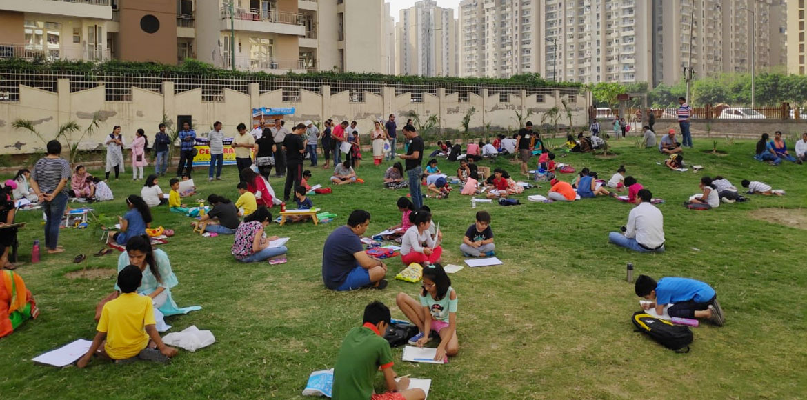 Painting competition for kids on importance of environment in Noida Sec 137