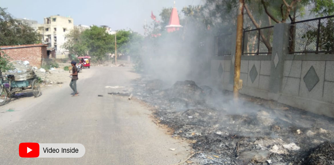 Dwarka: Burning of waste, dry leaves rampant in Sec 14; authority 'callous'
