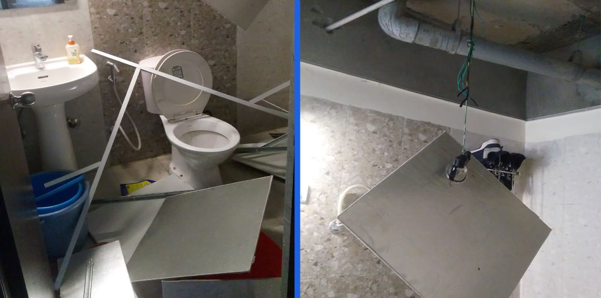 GreNo West: Resident escapes unhurt after false ceiling crumbles; mgmt bows down