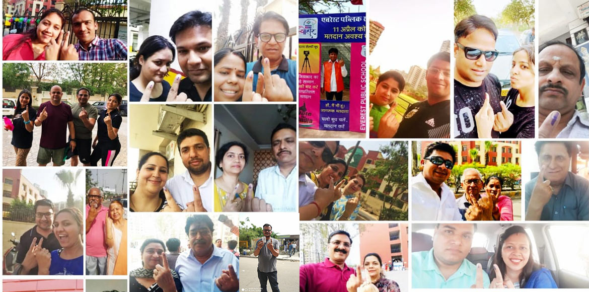 Voting concludes in Ghaziabad; I'puram residents show 'Vote Ka Josh': SEE PICS