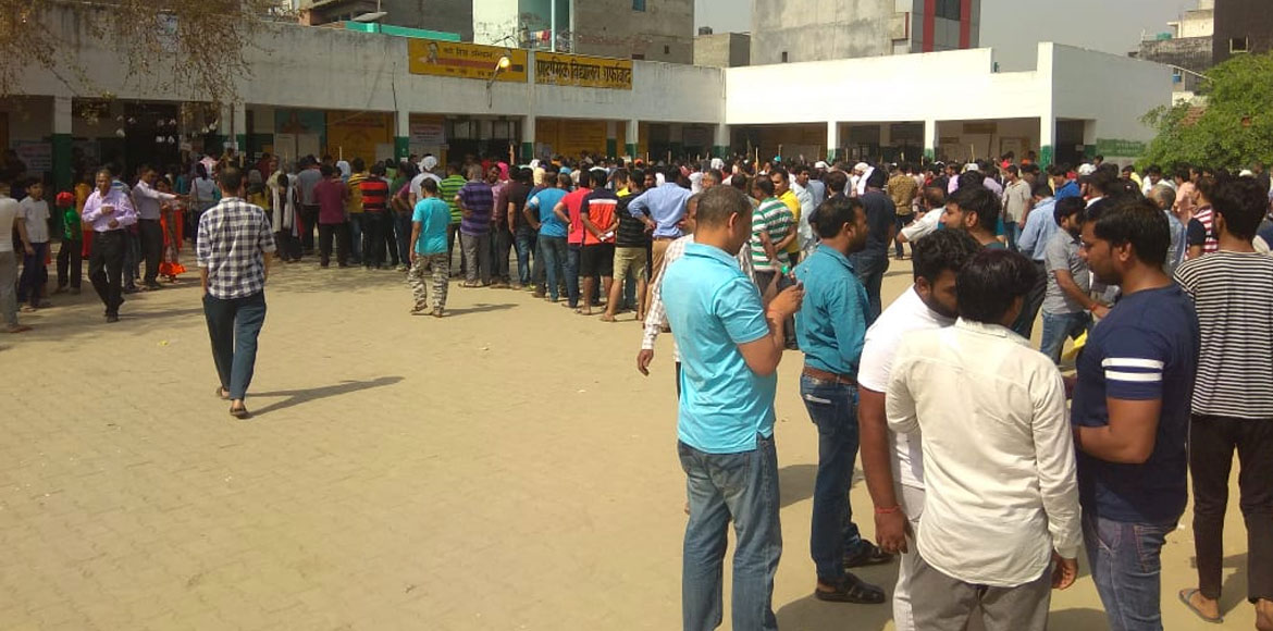Noida: Residents turn out to vote in huge numbers at Sec 78
